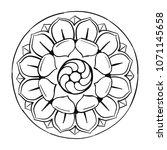 mandala ornament  colorful... | Shutterstock .eps vector #1071145658
