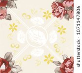 seamless floral pattern with... | Shutterstock .eps vector #1071147806