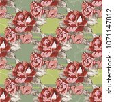 seamless floral pattern with... | Shutterstock .eps vector #1071147812