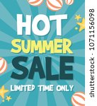 summer sale background with... | Shutterstock .eps vector #1071156098