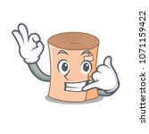 call me medical gauze mascot... | Shutterstock .eps vector #1071159422