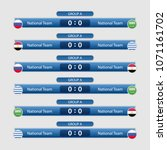 match schedule group a vector... | Shutterstock .eps vector #1071161702