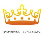 king crown luxxury icon | Shutterstock .eps vector #1071162692