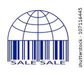 sale label stylized as a globe...   Shutterstock .eps vector #107116445