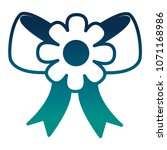 bow ribbon with flower icon | Shutterstock .eps vector #1071168986