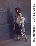 beautiful sexy fashion woman... | Shutterstock . vector #1071172952