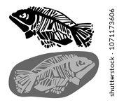 prehistoric bones of animals... | Shutterstock .eps vector #1071173606