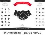 handshake symbol icon | Shutterstock .eps vector #1071178922