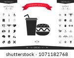 hamburger or cheeseburger ...   Shutterstock .eps vector #1071182768