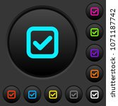 checkbox dark push buttons with ...   Shutterstock .eps vector #1071187742