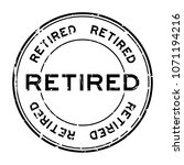 grunge black retired round... | Shutterstock .eps vector #1071194216