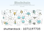 blockchain technology... | Shutterstock . vector #1071197735