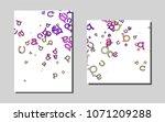 light pink  bluevector template ...   Shutterstock .eps vector #1071209288