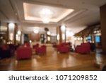 luxury hotel lobby blurred... | Shutterstock . vector #1071209852