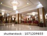 luxury hotel lobby blurred... | Shutterstock . vector #1071209855