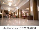 luxury hotel lobby blurred... | Shutterstock . vector #1071209858