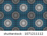 ornate zentangle texture ... | Shutterstock . vector #1071211112