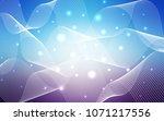light pink  blue vector pattern ... | Shutterstock .eps vector #1071217556