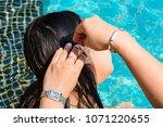 prachuab khirikhan  thailand  ... | Shutterstock . vector #1071220655
