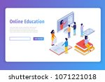 online education  e learning... | Shutterstock .eps vector #1071221018