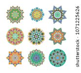 mandalas collection. asian... | Shutterstock . vector #1071225626