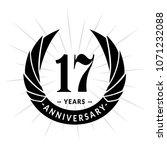 17 years anniversary. elegant... | Shutterstock .eps vector #1071232088