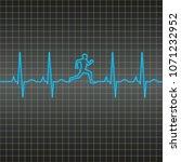 vector ekg heart monitor...   Shutterstock .eps vector #1071232952
