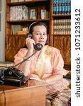 women wear thailand national...   Shutterstock . vector #1071233612
