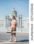 women wear thailand national...   Shutterstock . vector #1071233636