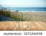 empty texture wooden table with ... | Shutterstock . vector #1071246938