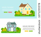 banner for sales  advertising... | Shutterstock .eps vector #1071255578