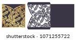 trendy laser cut ornamental...   Shutterstock .eps vector #1071255722