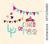 banner or card for cinco de... | Shutterstock .eps vector #1071256682