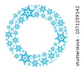 snowflake  wreath isolated.... | Shutterstock . vector #1071259142