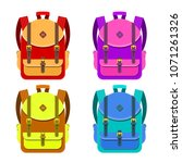 color image of a backpacks on a ... | Shutterstock .eps vector #1071261326