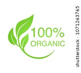 100  organic vector logo design. | Shutterstock .eps vector #1071263765