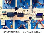 aerial view of electronics... | Shutterstock . vector #1071264362