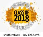 class of 2018 word cloud... | Shutterstock .eps vector #1071266396