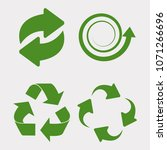 green recycle set icon... | Shutterstock . vector #1071266696