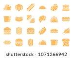 club sandwich  hotdog  burger ... | Shutterstock .eps vector #1071266942