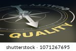 compass with the needle... | Shutterstock . vector #1071267695