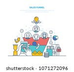 sales funnel  conversion.... | Shutterstock .eps vector #1071272096