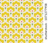 seamless retro pattern with... | Shutterstock .eps vector #1071277958
