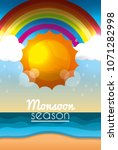 summer and rain season | Shutterstock .eps vector #1071282998