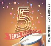 5 years anniversary vector icon ... | Shutterstock .eps vector #1071285398
