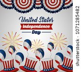 american independence day | Shutterstock .eps vector #1071285482