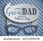 happy fathers day greeting card ... | Shutterstock .eps vector #1071295478