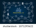 industry 4.0 infographic and... | Shutterstock .eps vector #1071295622