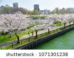 kema sakuranomiya park osaka  ... | Shutterstock . vector #1071301238