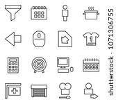 flat vector icon set   funnel...